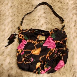 NWOT Betsey Johnson Roses and Chains tote